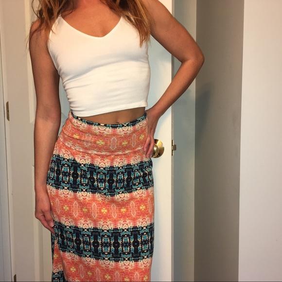 dd8f31d1098ff Skirts | Boho High Waist Maxi Skirt | Poshmark
